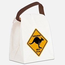 Kangaroo Sign Next Km A2 copy Canvas Lunch Bag