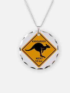 Kangaroo Sign Next Km A2 cop Necklace