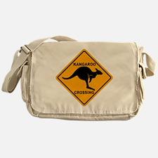 Kangaroo Sign Crossing A3 copy Messenger Bag