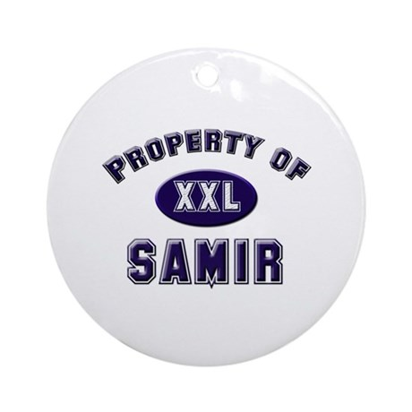 Property of samir Ornament (Round)