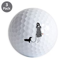 Dachshund11 Golf Ball