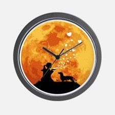Dachshund22 Wall Clock