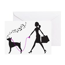 Doberman-Pinscher32 Greeting Card