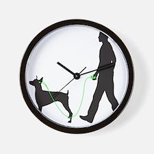 Doberman-Pinscher34 Wall Clock