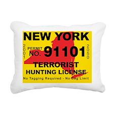 terrorist-hunting-licens Rectangular Canvas Pillow