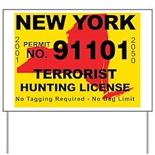 terrorist-hunting-license-NY Yard Sign