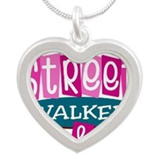 STREET WALKER Silver Heart Necklace