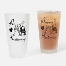 Anniversary black and white 35 Drinking Glass