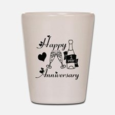Anniversary black and white 1 copy Shot Glass