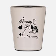 Anniversary black and white 15 Shot Glass