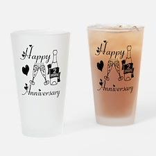 Anniversary black and white 2 Drinking Glass