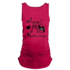 Anniversary black and white 2 Maternity Tank Top