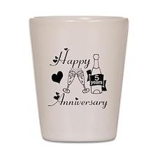 Anniversary black and white 5 Shot Glass