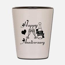Anniversary black and white 40 Shot Glass