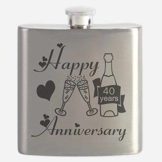 Anniversary black and white 40 Flask