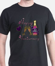 Anniversary pink and purple 10 T-Shirt