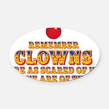 clownsdrk Oval Car Magnet