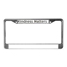 Kindness-01 License Plate Frame