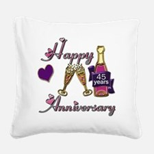Anniversary pink and purple 4 Square Canvas Pillow