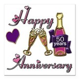 50th wedding anniversary Square Car Magnets