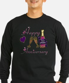 Anniversary pink and purp T