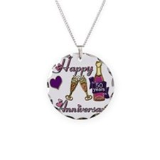 Anniversary pink and purple  Necklace