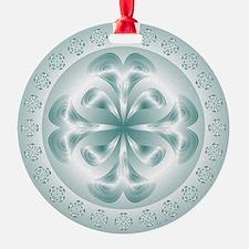 Silver flower copy Ornament