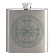 Silver flower copy Flask