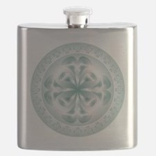 Silver flower copy Flask