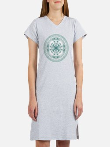 Silver flower copy Women's Nightshirt