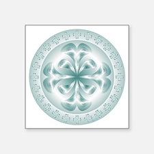 "Silver flower copy Square Sticker 3"" x 3"""