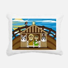 Nativity Poster Rectangular Canvas Pillow
