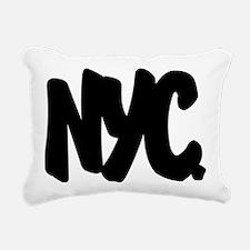 NYC Brushed W Rectangular Canvas Pillow