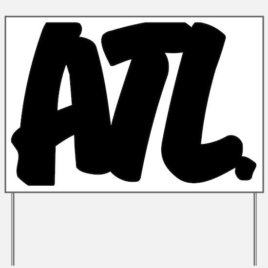ATL Brushed W Yard Sign