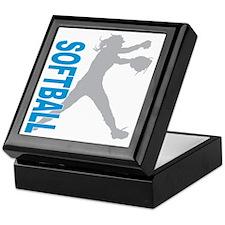 play softball(blk) Keepsake Box