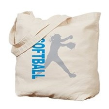 play softball(blk) Tote Bag