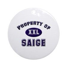 Property of saige Ornament (Round)