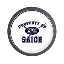 Property of saige Wall Clock