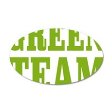 green team T 35x21 Oval Wall Decal
