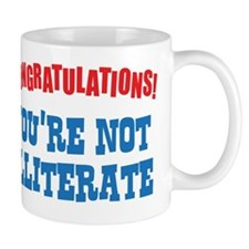 illiterate Mug