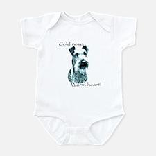 Irish Terrier Warm Heart Infant Bodysuit