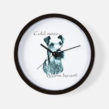 Irish Terrier Warm Heart Wall Clock