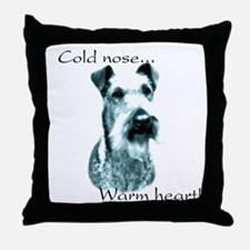 Irish Terrier Warm Heart Throw Pillow