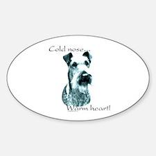 Irish Terrier Warm Heart Oval Decal