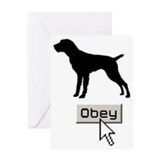 German-Wirehaired-Pointer15 Greeting Card