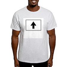 Directional Arrow Up - USA Ash Grey T-Shirt