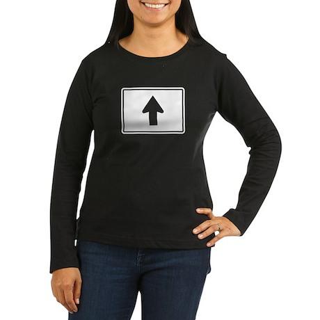 Directional Arrow Up - USA Women's Long Sleeve Dar