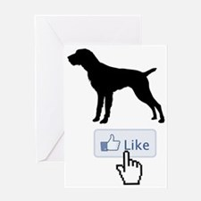 German-Wirehaired-Pointer20 Greeting Card
