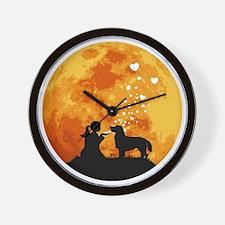 Flat-Coated-Retriever22 Wall Clock