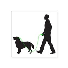 "Flat-Coated-Retriever34 Square Sticker 3"" x 3"""